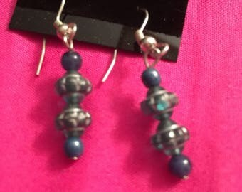 Gorgeous Blue and Siler Earings