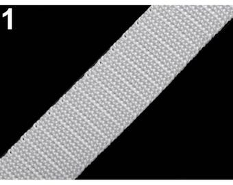 white nylon webbing 25 mm 1 meter