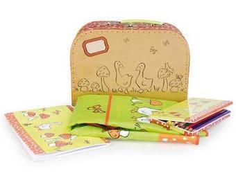 Creative coloring theme mushrooms geese suitcase / creative kids DIY Kit
