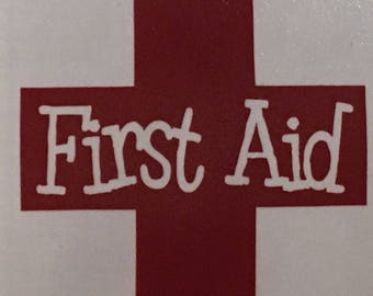 Vinyl First Aid Label
