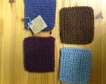 Set of 4 Wool Coasters