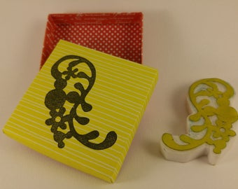 handmade flower stamp