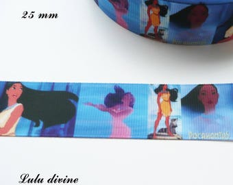 Effect scene Pocahontas 25 mm grosgrain Ribbon sold by 50 cm