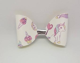 unicorn hair bow, unicorn hairbow, hair bow clip