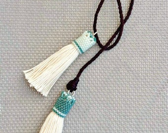 """Necklace beads and tassels / """"Baïkal"""""""