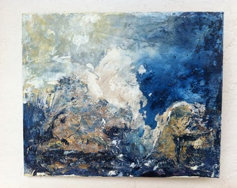 """modern """"Storm in the middle of the ocean"""" acrylic painting"""