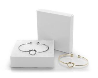 Love Knot Bangle, Bridesmaid Bracelet, Bridesmaid Jewelry, Wedding Jewelry, Maid of honor gift, Bridal Jewelry, Bridesmaids Gifts, Love Knot