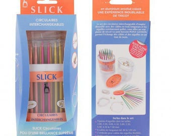 Set of interchangeable circular needles Slick Pony