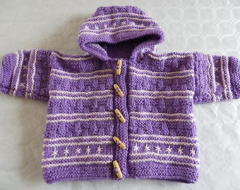 Purple and pink coat size 6 months
