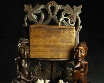 African style wooden box