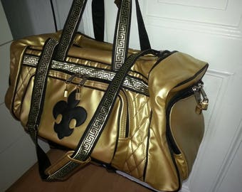 Sports bag set with Backpack in gold & Black
