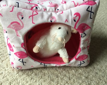 Small animal Cube Hammock - Flamingo