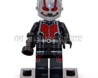 Custom Ant-Man Minifigure Marvel Comics Fits Lego UK Seller