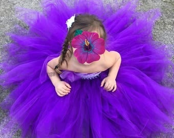 Purple tutu dress size 4t