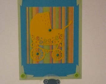 scrapbooking handmade birth card