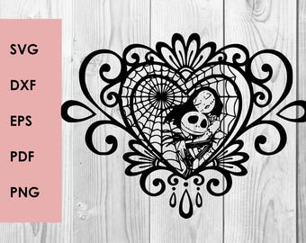 Nightmare before christmas SVG DXF PNG cutting file, Printable, T-shirt Design, Scrapbooking Clipart