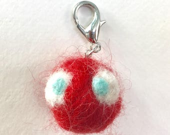 Red Monster Backpack Charm / Keychain / Purse Charm