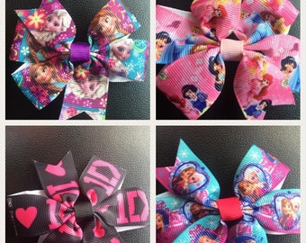 4 Large Character Bows