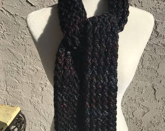 Handmade Knitted Straight Scarf - Item #2506