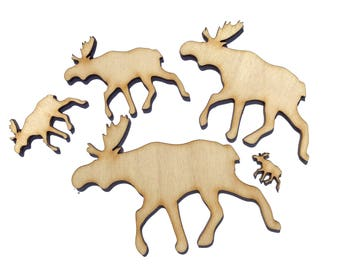 Blank Wooden Elk Plywood Scrapbooking Embellishment Wedding Decor Christmas
