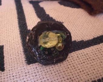 """Ring """"Shades of green"""""""