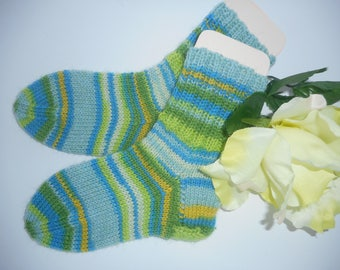 Baby socks of 21 - 22 size size hand knitted children socks warm hand made woolsocks wool socks