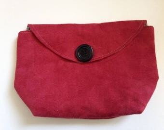 Pocket and suede glasses case