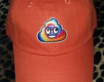 Emoji Rainbow Poop Dad Hat