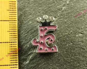 Pearl e busy N4 rhinestone Crown for bracelet