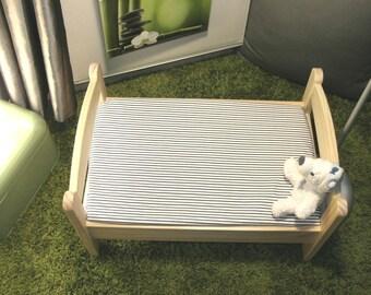 "Cloth cover 60 x 120 cm bed evolutionary ""striped"" baby Ptibidi"