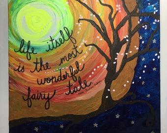 Painting: Fairy tale tree