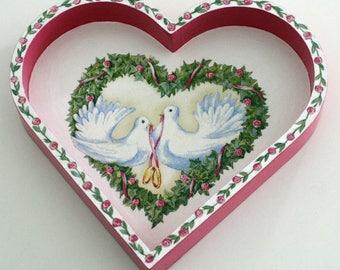 """Trinket heart """"Doves"""""""