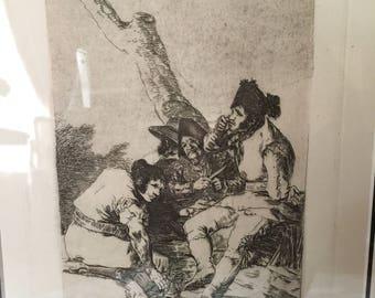 """Francisco Goya Etching """"Muchachos al avio"""""""