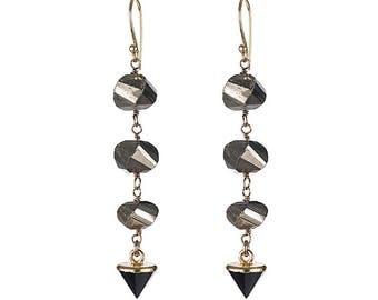 Telluride Gemstone Spike Dangle Earrings