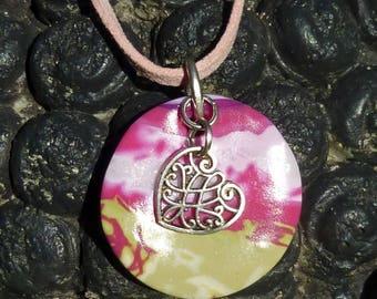 Mimis - polymer clay sweet heart pendant