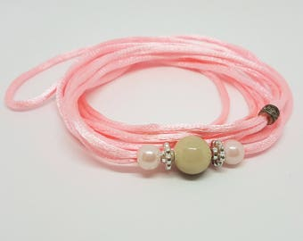 Handmade Dog Show Collar - PINK 003
