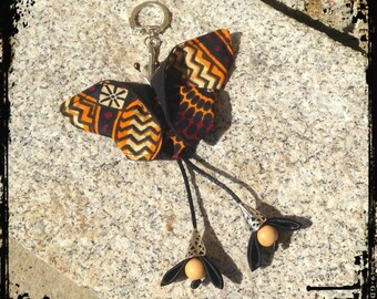 "Origami Butterfly ""keur cowrie"" bag charm"
