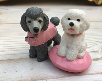 puppy in my pocket, retro collectibles, vintage figures, puppy figurines, 90's collectible figurines