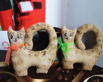 Cat, doll, kitten, toy, friend, кот, кошка, котята, coffe, arome, чердачная кукла, vintage