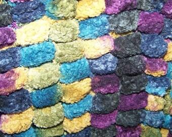 wool scarf adult multicolor TASSELS