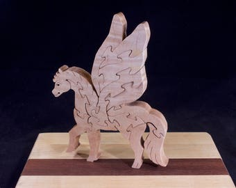 Wooden Free-Standing Pegasus Puzzle