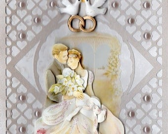 Wedding Doves with 6 3d card