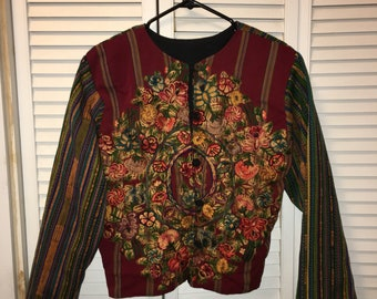 Button up tapestry jacket
