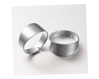 Support Adjustable ring without nickel, silver, 17 mm