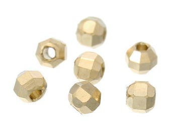 Set of 4 beads, copper Or clear 4 x 3 mm, 1.5 mm hole
