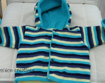 baby 1 year, knitted and lined jacket/jacket