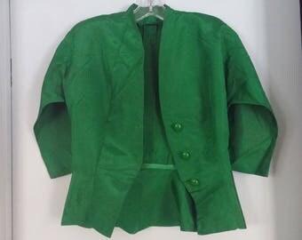 Vintage, emerald green dress suit