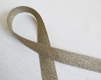 Golden 15mm linen Ribbon