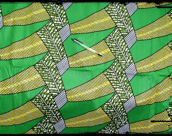 "coupon ""banana"" African wax fabric"