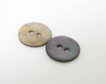 2 x 12mm (l167) Pearly purple buttons